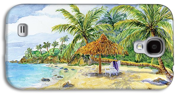 Palappa N Adirondack Chairs On A Caribbean Beach Galaxy S4 Case by Audrey Jeanne Roberts