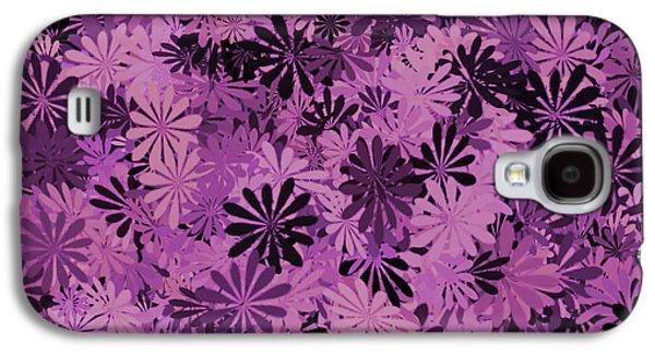 Pale Pink Floral Pattern Galaxy S4 Case