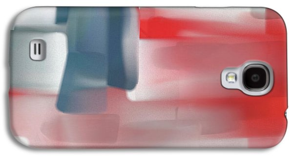 Palette Knife Abstract American Flag Galaxy S4 Case by Dan Sproul
