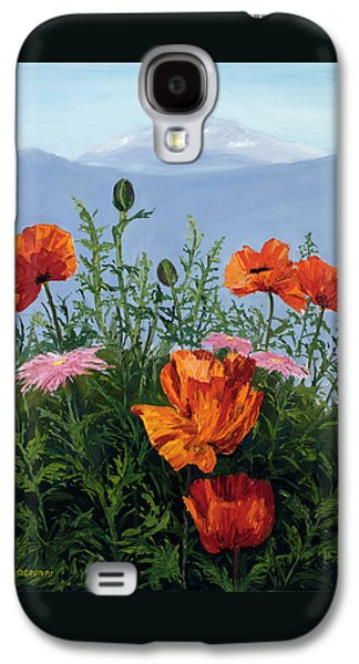Pallet Knife Poppies Galaxy S4 Case by Mary Giacomini