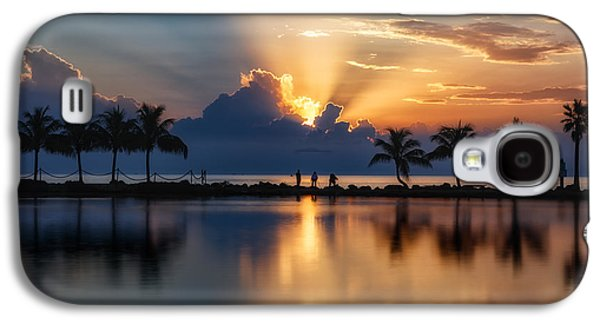 Palm Tree Framed Sunrise Galaxy S4 Case by Andres Leon