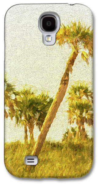 Palms On Canvas Galaxy S4 Case by Marvin Spates