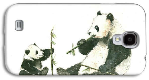 Panda Family Eating Bamboo Galaxy S4 Case