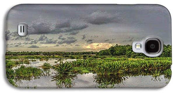 Panorama, Florida Wetlands At Sunset Galaxy S4 Case