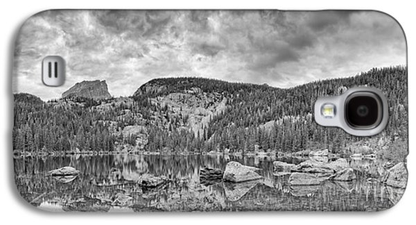 Panorama Of Bear Lake And Halletts Peak In Monochrome - Rocky Mountain National Park Estes Park Colo Galaxy S4 Case by Silvio Ligutti