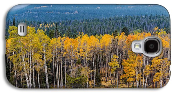Panorama Of Changing Aspens At Rocky Mountain National Park - Estes Park Colorado Galaxy S4 Case by Silvio Ligutti