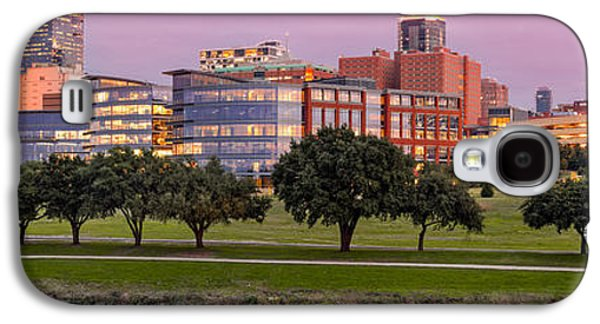 Panorama Of Downtown Fort Worth And Trinity River At Twilight - Dfw North Texas Galaxy S4 Case by Silvio Ligutti