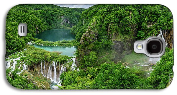 Panorama Of Turquoise Lakes And Waterfalls - A Dramatic View, Plitivice Lakes National Park Croatia Galaxy S4 Case