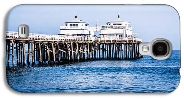 Landmarks Photographs Galaxy S4 Cases - Panoramic Picture of Malibu Pier in Malibu California Galaxy S4 Case by Paul Velgos