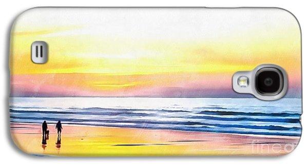 Paradise On The Beach Galaxy S4 Case by Edward Fielding