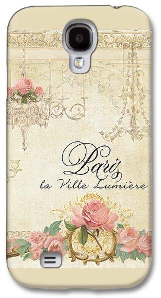 Parchment Paris - City Of Light Chandelier Candelabra Chalk Roses Galaxy S4 Case