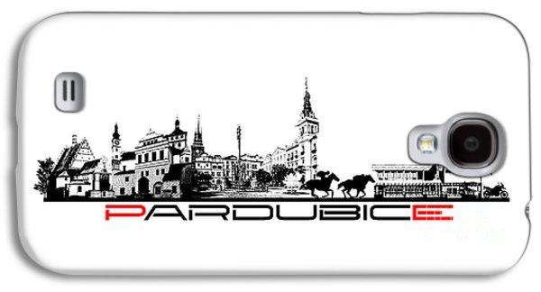 Pardubice Skyline City Black Galaxy S4 Case