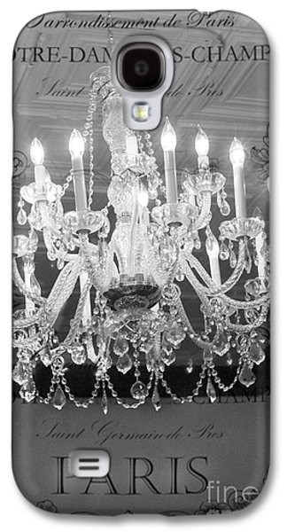 Paris Black And White Crystal Chandeliers - French Parisian Black White Crystal Chandelier Art Galaxy S4 Case by Kathy Fornal
