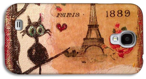 Paris Cat  Galaxy S4 Case by Roxy Rich
