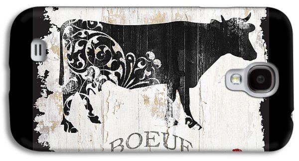 Cow Galaxy S4 Case - Paris Farm Sign Cow by Mindy Sommers