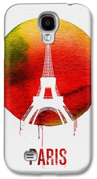 Paris Landmark Red Galaxy S4 Case by Naxart Studio