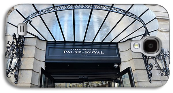 Paris Palais Royal Hotel Door - Paris Art Nouveau Hotel Palais Royal Entrance Architecture Galaxy S4 Case by Kathy Fornal