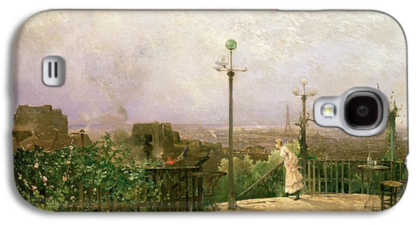 Paris Seen From The Heights Of Montmartre Galaxy S4 Case by Jean dAlheim