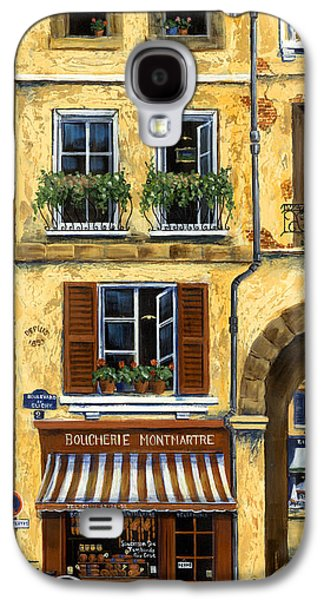Europe Galaxy S4 Cases - Parisian Bistro and Butcher Shop Galaxy S4 Case by Marilyn Dunlap