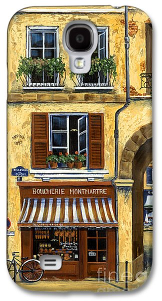 Parisian Bistro And Butcher Shop Galaxy S4 Case by Marilyn Dunlap