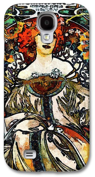 Parisian Lady Van Gogh Style Expressionism Galaxy S4 Case