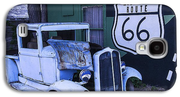 Parked Blue Truck Galaxy S4 Case by Garry Gay