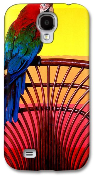 Parrot Sitting On Chair Galaxy S4 Case by Garry Gay