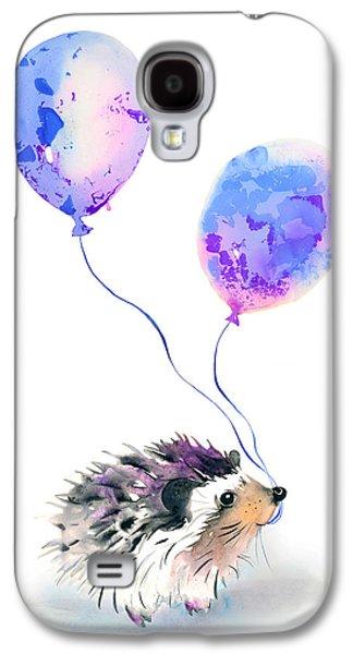 Party Hedgehog Galaxy S4 Case by Krista Bros