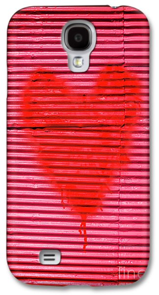 Passionate Red Heart For A Valentine Love Galaxy S4 Case by Jorgo Photography - Wall Art Gallery