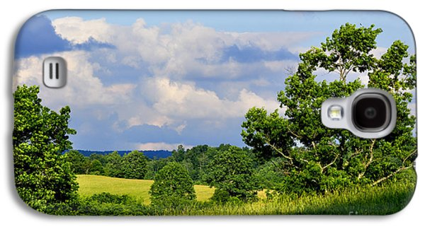 Pasture Scenes Galaxy S4 Cases - Pasture Fields and Mountains Galaxy S4 Case by Thomas R Fletcher