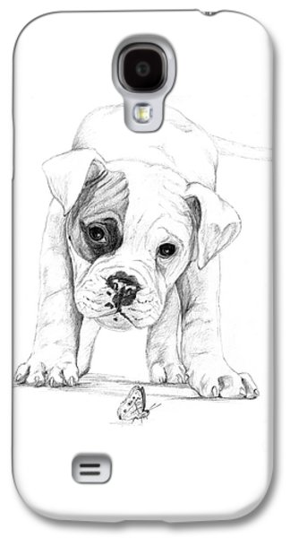 Patch A Boxer Puppy Galaxy S4 Case