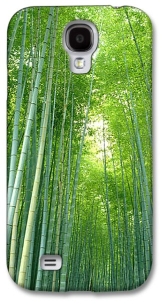 Path Through Bamboo Forest Kyoto Japan Galaxy S4 Case by Panoramic Images