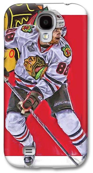 Patrick Kane Chicago Blackhawks Oil Art Series 2 Galaxy S4 Case by Joe Hamilton