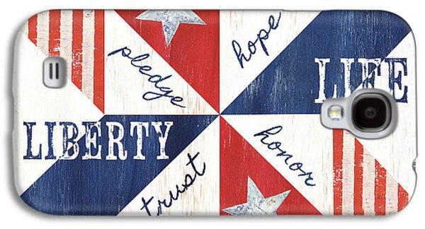 Patriotic Quilt 1 Galaxy S4 Case by Debbie DeWitt