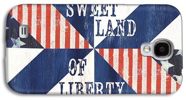 Patriotic Quilt 3 Galaxy S4 Case by Debbie DeWitt