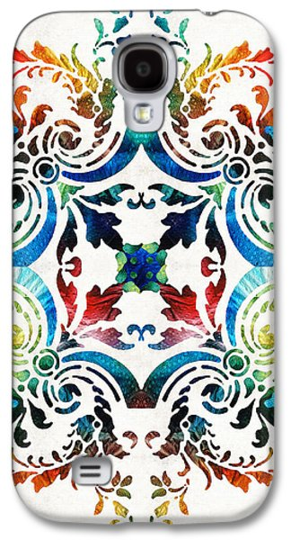 Pattern Art - Color Fusion Design 7 By Sharon Cummings Galaxy S4 Case by Sharon Cummings