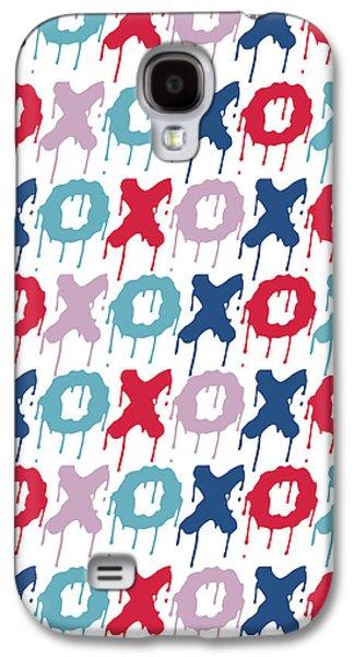 Pattern X O  Galaxy S4 Case by Mark Ashkenazi