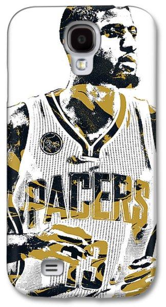 Paul George Indiana Pacers Pixel Art Galaxy S4 Case by Joe Hamilton