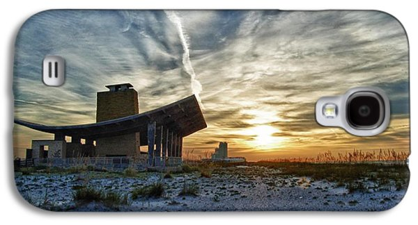 Crimson Tide Galaxy S4 Cases - Pavillion and the beach Galaxy S4 Case by Michael Thomas