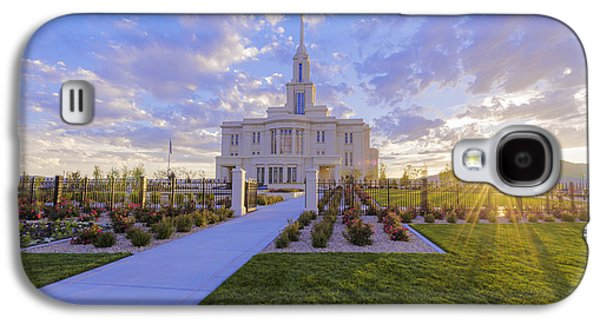 Payson Temple I Galaxy S4 Case by Chad Dutson