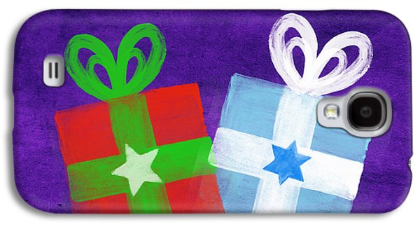 Peace And Joy- Hanukkah And Christmas Card By Linda Woods Galaxy S4 Case by Linda Woods