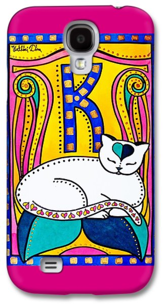 Peace And Love - Cat Art By Dora Hathazi Mendes Galaxy S4 Case by Dora Hathazi Mendes