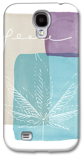 Peace Cannabis Leaf Watercolor- Art By Linda Woods Galaxy S4 Case