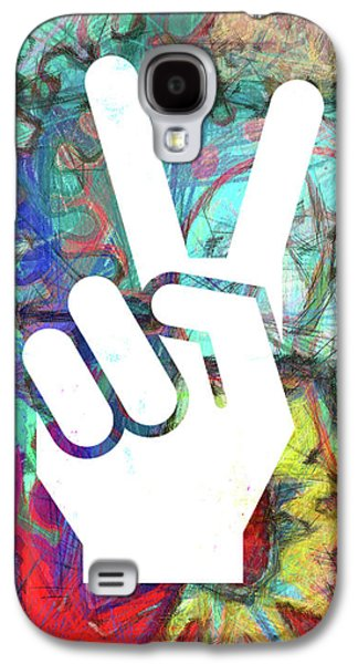 Peace Hand Sign 1  Galaxy S4 Case