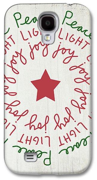Peace Light Joy Wreath- Art By Linda Woods Galaxy S4 Case