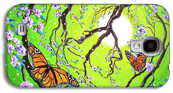 Activists Galaxy S4 Cases - Peace Tree with Monarch Butterflies Galaxy S4 Case by Laura Iverson