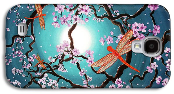 Peace Tree With Orange Dragonflies Galaxy S4 Case by Laura Iverson