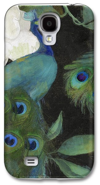 Peacock Galaxy S4 Case - Peacock And Magnolia II by Mindy Sommers