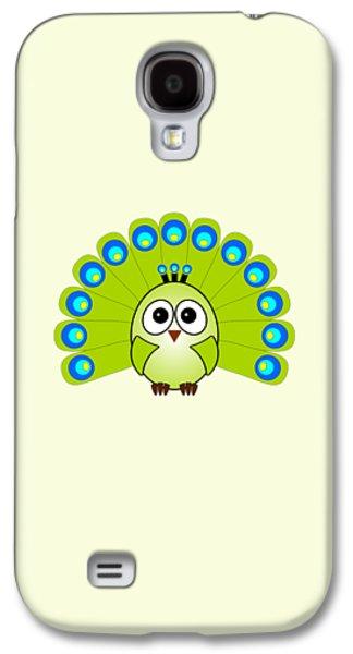Peacock  - Birds - Art For Kids Galaxy S4 Case