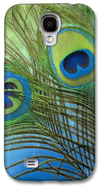 Peacock Candy Blue And Green Galaxy S4 Case by Mindy Sommers